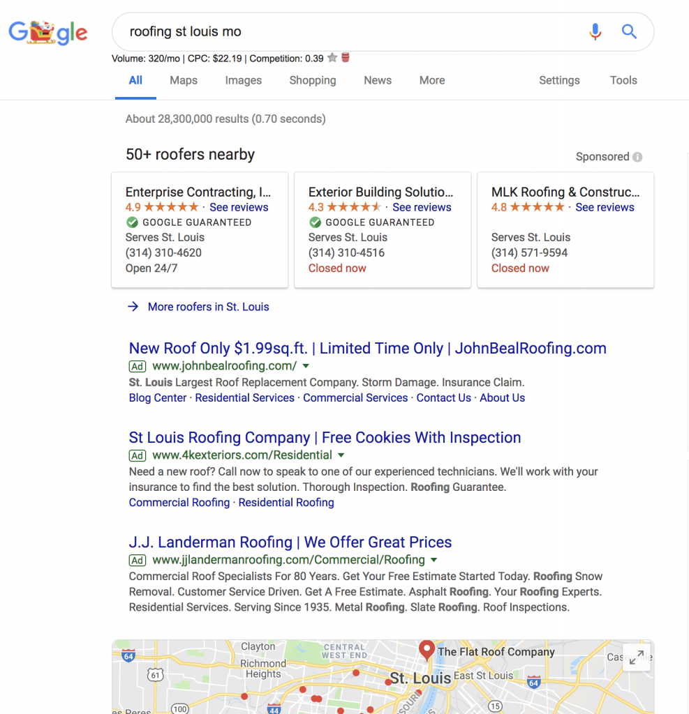 Roofing Serps in St. Louis