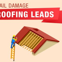 picture of hail damage telemarketing roofing leads